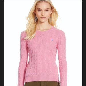 Ralph Lauren Cable Knit Pink Sweater